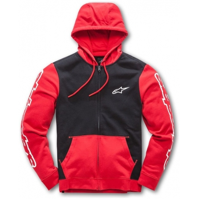 ALPINESTARS mikina MACHINE FLEECE red/black