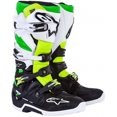 ALPINESTARS boty TECH 7 black/white/green fluo/yellow fluo