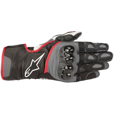 ALPINESTARS rukavice SP-2 v2 black / grey / red fluo