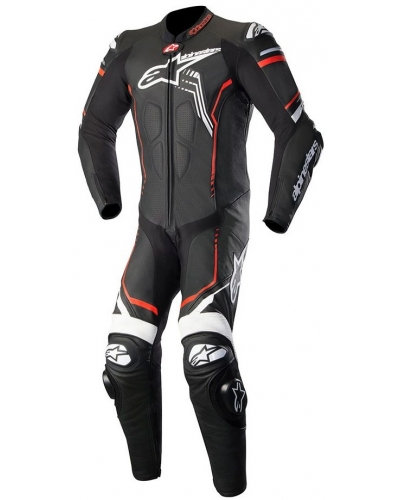 AlPINESTARS kombinéza GP PLUS V2 1-dílná black/white/red fluo