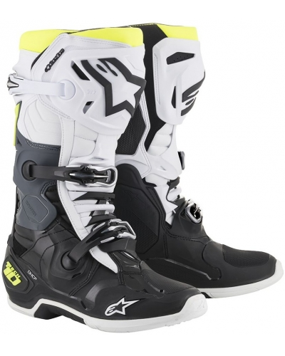 ALPINESTARS boty TECH 10 2019 black/white/fluo yellow