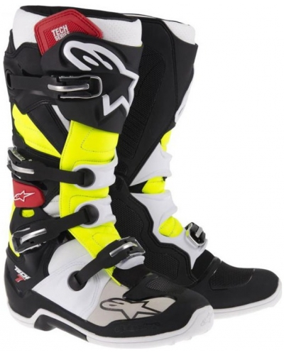 ALPINESTARS boty TECH 7 blk/red/yellow