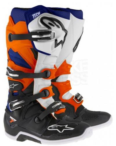 ALPINESTARS boty TECH 7 black/orange/white/blue