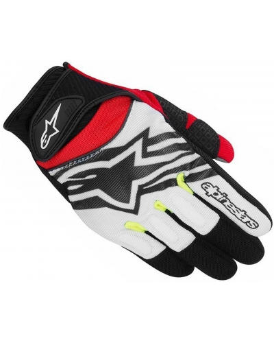ALPINESTARS rukavice SPARTAN black/white/fluo yellow/red