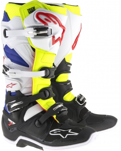 ALPINESTARS boty TECH 7 white/yellowfluo/blue