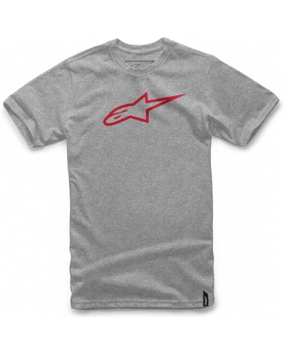 ALPINESTARS triko AGELESS grey heather/red