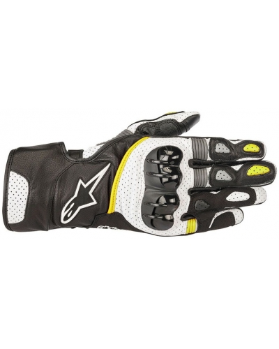 ALPINESTARS rukavice SP-2 v2 black/white/yellow fluo
