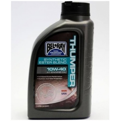 BELRAY motorový olej THUMPER RACING Synthetic Ester Blend 4T 10W40 1L