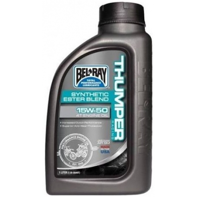 BELRAY motorový olej THUMPER RACING Synthetic Ester Blend 4T 15W50