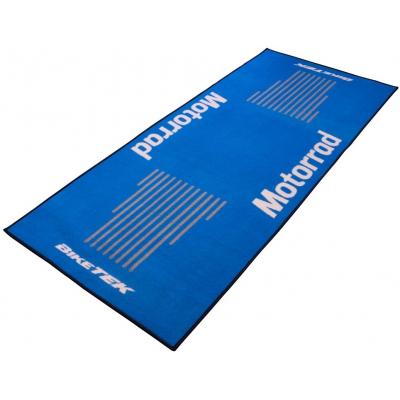 BIKE-IT garážový koberec BIKETEK SERIES 3 Motorrad blue