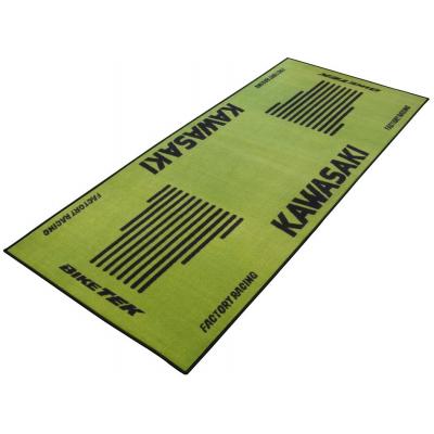 BIKE-IT garážový koberec BIKETEK SERIES 3 Kawasaki green