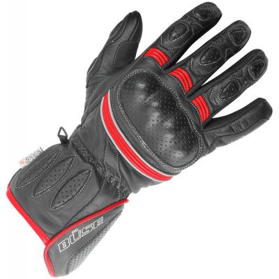 BÜSE rukavice PIT LANE black/neon red