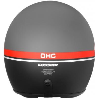Cassidy prilba OXYGEN Jawa OHC matt grey / red / black / white