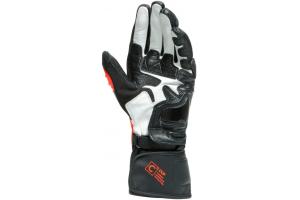 DAINESE rukavice CARBON 3 LONG black iris/flame orange/fluo red