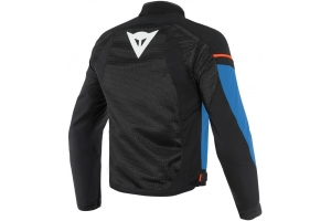 DAINESE bunda AIR FRAME D1 TEX black/light blue/fluo red