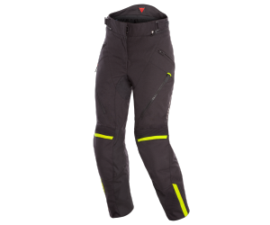 DAINESE nohavice TEMPEST 2 LADY D-DRY dámske black / fluo yellow