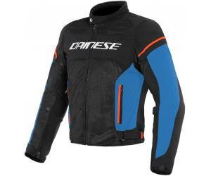 DAINESE bunda AIR FRAME D1 TEX black/light blue/fluo red