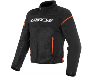 DAINESE bunda AIR FRAME D1 TEX black/white/fluo red