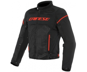 DAINESE bunda AIR FRAME D1 TEX Black / Black / fluo-red