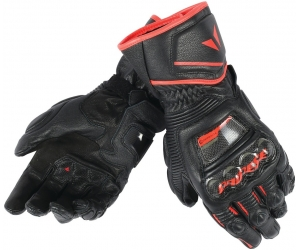 DAINESE rukavice DRUID D1 LONG black/black/fluo red