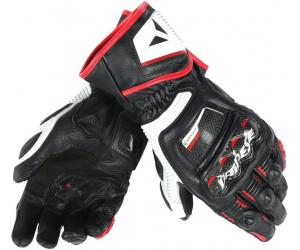 DAINESE rukavice DRUID D1 LONG black/white/lava red