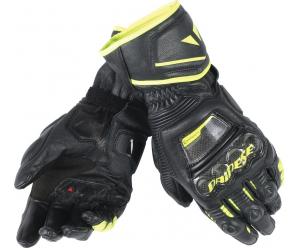DAINESE rukavice DRUID D1 LONG black/black/fluo-yellow