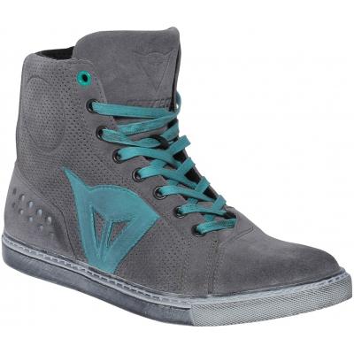 DAINESE topánky STREET BIKER AIR dámske grey/aquamarine