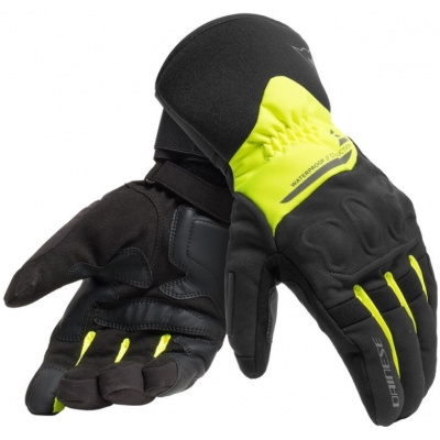 DAINESE rukavice X-TOURER D-DRY black/fluo-yellow