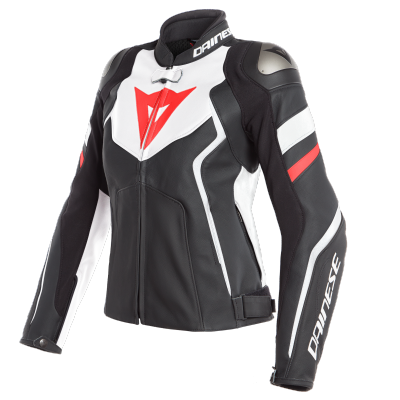 DAINESE bunda AVRO 4 LADY dámská matt black/white/fluo red