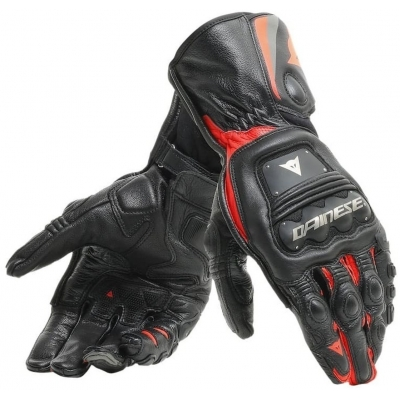 DAINESE rukavice STEEL-PRO black/fluo red