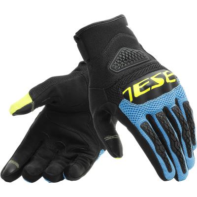 DAINESE rukavice BORA black/fire-blue/fluo-yellow