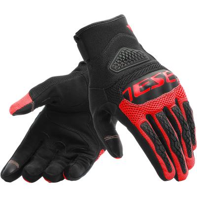 DAINESE rukavice BORA black/fluo-red