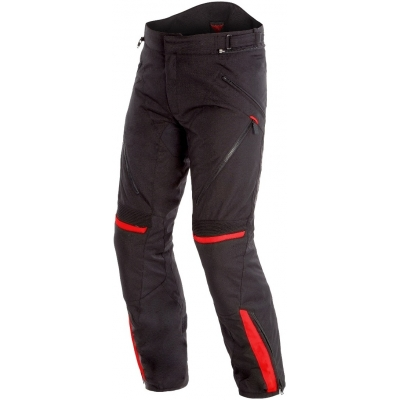 DAINESE kalhoty TEMPEST 2 D-DRY black/black/tour-red