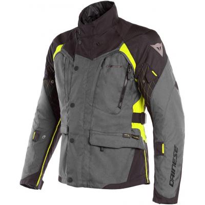 DAINESE bunda X-TOURER D-DRY ebony/black/fluo-yellow