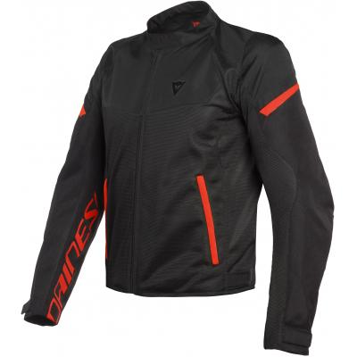 DAINESE bunda BORA AIR TEX black/fluo-red