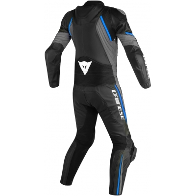 DAINESE kombinéza AVRO D2 2-dielna black/matt grey/performance blue