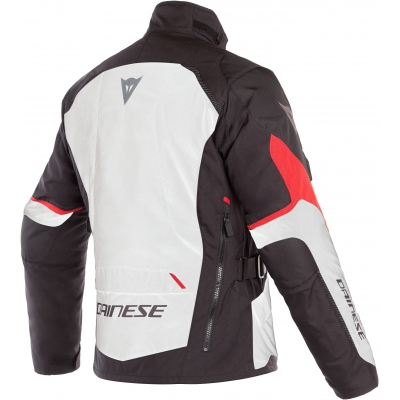 DAINESE bunda TEMPEST 2 D-DRY light grey / black / tour red