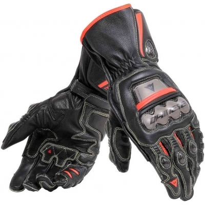 DAINESE rukavice FULL METAL 6 black / fluo-red
