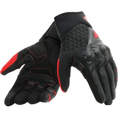 DAINESE rukavice X-MOTO black / fluo-red