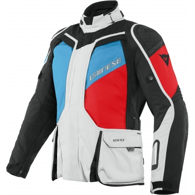 DAINESE bunda D-EXPLORER 2 GORE-TEX glacier grey / blue / lava red / black