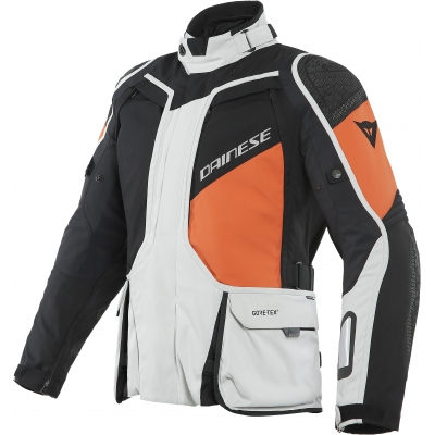 DAINESE bunda D-EXPLORER 2 GORE-TEX glacier grey / orange / black