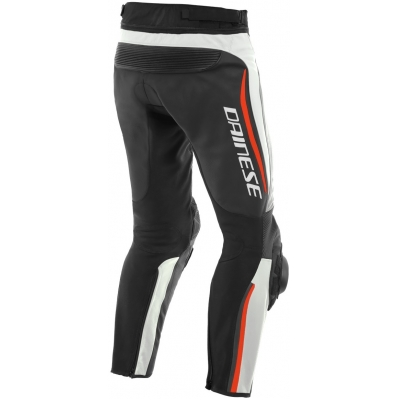DAINESE kalhoty ALPHA Perf. white/black/fluo red