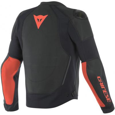 DAINESE bunda INTREPIDA Perf. black/black matt/fluo red