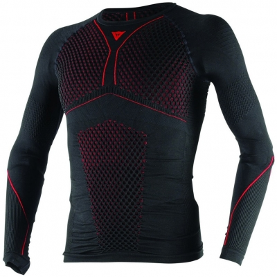 DAINESE termo tričko D-CORE THERMO LS black / red
