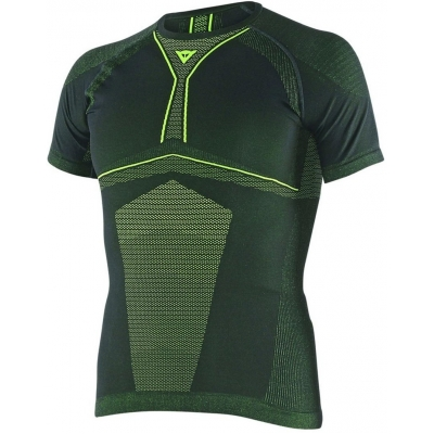 DAINESE termo tričko D-CORE DRY SS black / fluo yellow