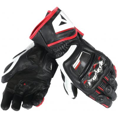 DAINESE rukavice DRUID D1 LONG Black / White / lava red