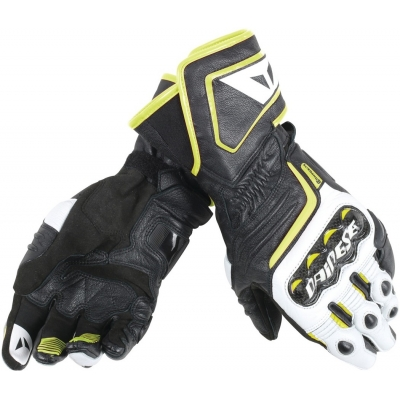 DAINESE rukavice CARBON D1 LONG black/white/fluo yellow