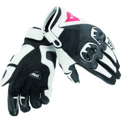 DAINESE rukavice MIG C2 black / white / black