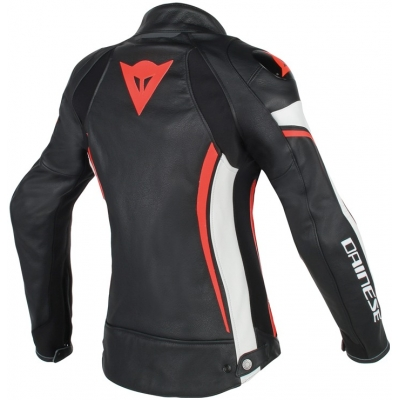 DAINESE bunda ASSEN dámska black/white/fluo red