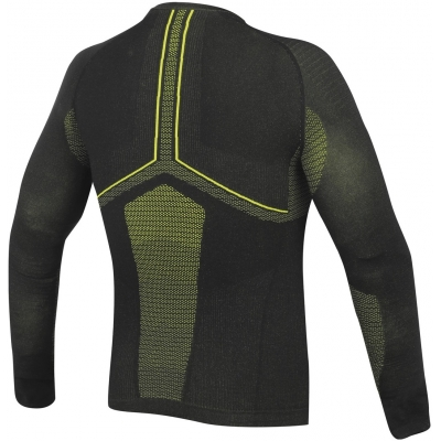 DAINESE termo tričko D-CORE NO-WIND DRY black/yellow fluo